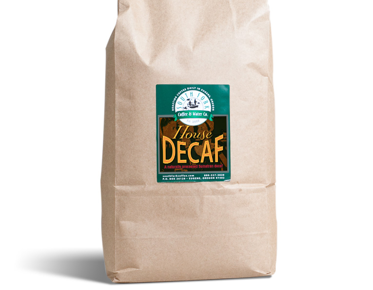 ork brand House Decaf coffee bag