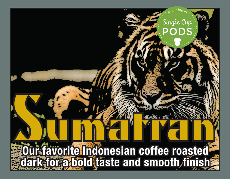 South Fork brand Sumatran coffee blend